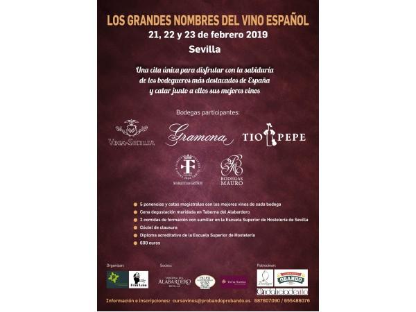 CURSO: LOS GRANDES NOMBRES DEL VINO ESPAÑOL